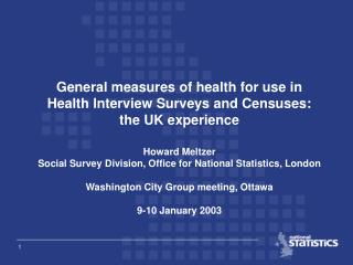 Typology of surveys in the UK which include questions on health problems or disability