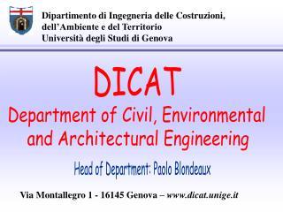 Dipartimento di Ingegneria delle Costruzioni, dell'Ambiente e del Territorio