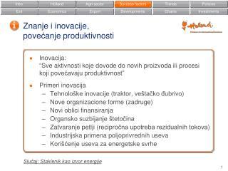 Znanje i inovacije, pove ć anje produktivnosti