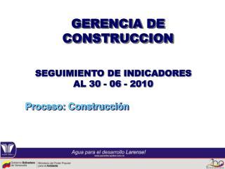 GERENCIA DE CONSTRUCCION