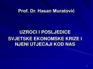 Prof. Dr. Hasan Muratović
