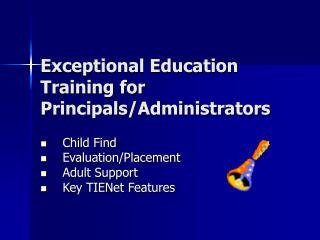 Exceptional Education Training for Principals