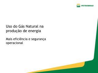 Uso do Gás Natural na produção de energia