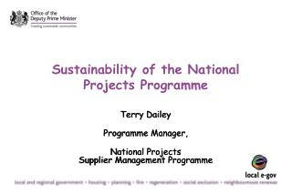 Sustainability of the National Projects Programme