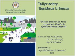 Universidad Nacional de Luján              Departamento de Tecnología