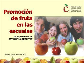 Promoción de fruta en las escuelas