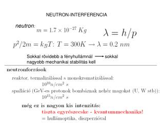NEUTRON-INTERFERENCIA