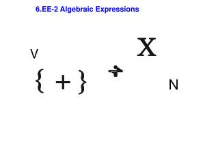 6.EE-2 Algebraic Expressions