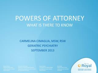POWERS OF ATTORNEY WHAT IS THERE TO KNOW