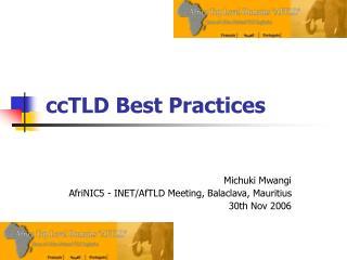 ccTLD Best Practices