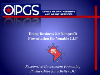 Doing Business 2.0 Nonprofit  Presentation for Venable LLP
