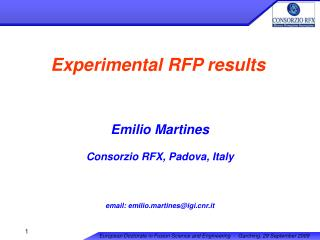 Experimental RFP results