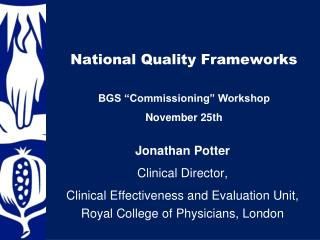 National Quality Frameworks