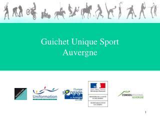 Guichet Unique Sport Auvergne