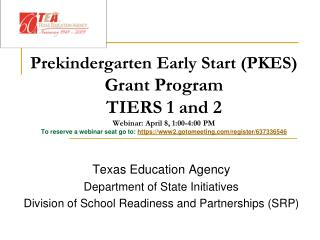 Texas Education Agency Department of State Initiatives