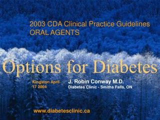 2003 CDA Clinical Practice Guidelines ORAL AGENTS