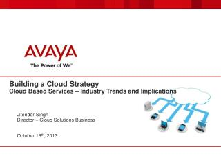 Building a Cloud  Strategy Cloud  B ased  S ervices –  Industry Trends and  Implications
