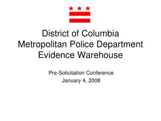 District of Columbia Metropolitan Police Department Evidence Warehouse