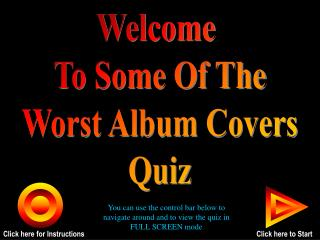 Welcome  To Some Of The Worst Album Covers Quiz