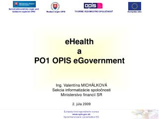eHealth  a  PO1 OPIS eGovernment