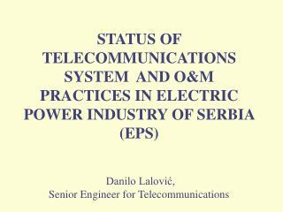 1. Deregulation in energy sector