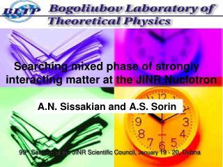A.N. Sissaki an and A.S. Sorin