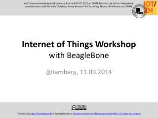 Internet of Things Workshop with BeagleBone