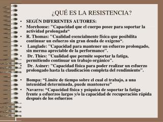 ¿QUÉ ES LA RESISTENCIA?