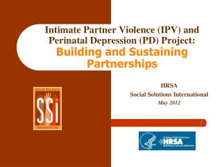 HRSA Social Solutions International May 2012