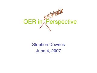 OER in  Perspective