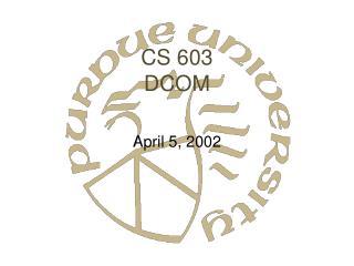 CS 603 DCOM