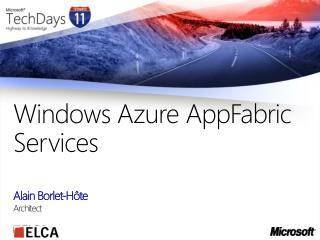 Windows Azure AppFabric Services