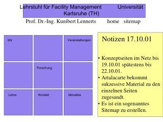 Lehrstuhl für Facility ManagementUniversität Karlsruhe (TH)