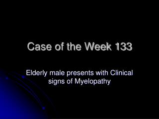 Case of the Week 133