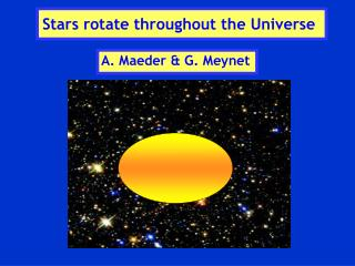 Stars rotate throughout the Universe