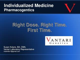 Individualized Medicine  Pharmacogentics