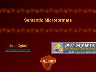 Semantic Microformats