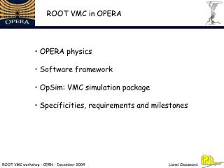ROOT VMC workshop - CERN - December 2004
