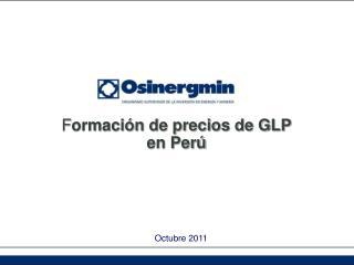 F ormación de precios de GLP en Perú