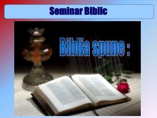 Seminar Biblic