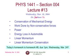 Mechanical Energy, Work and Power