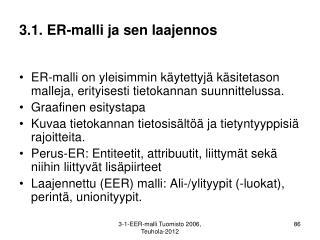 3.1. ER-malli ja sen laajennos