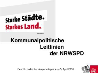 Kommunalpolitische  Leitlinien  der NRWSPD