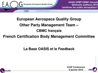 La Base OASIS et le Feedback