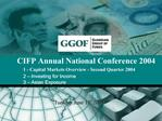CIFP Annual National Conference 2004