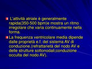 EPIDEMIOLOGIA DELLA F.A.