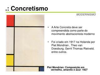 .: Concretismo