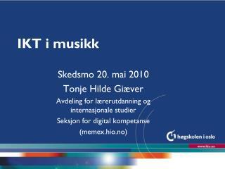 IKT i musikk