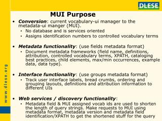 MUI Purpose