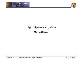 Flight Dynamics System Manfred Bester